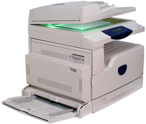 multifunction printer with open scanner cover